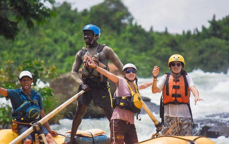 Ssezibwa falls rafting