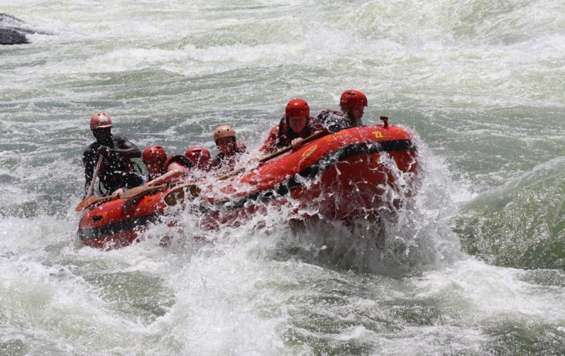 White water rafting the nile in Uganda