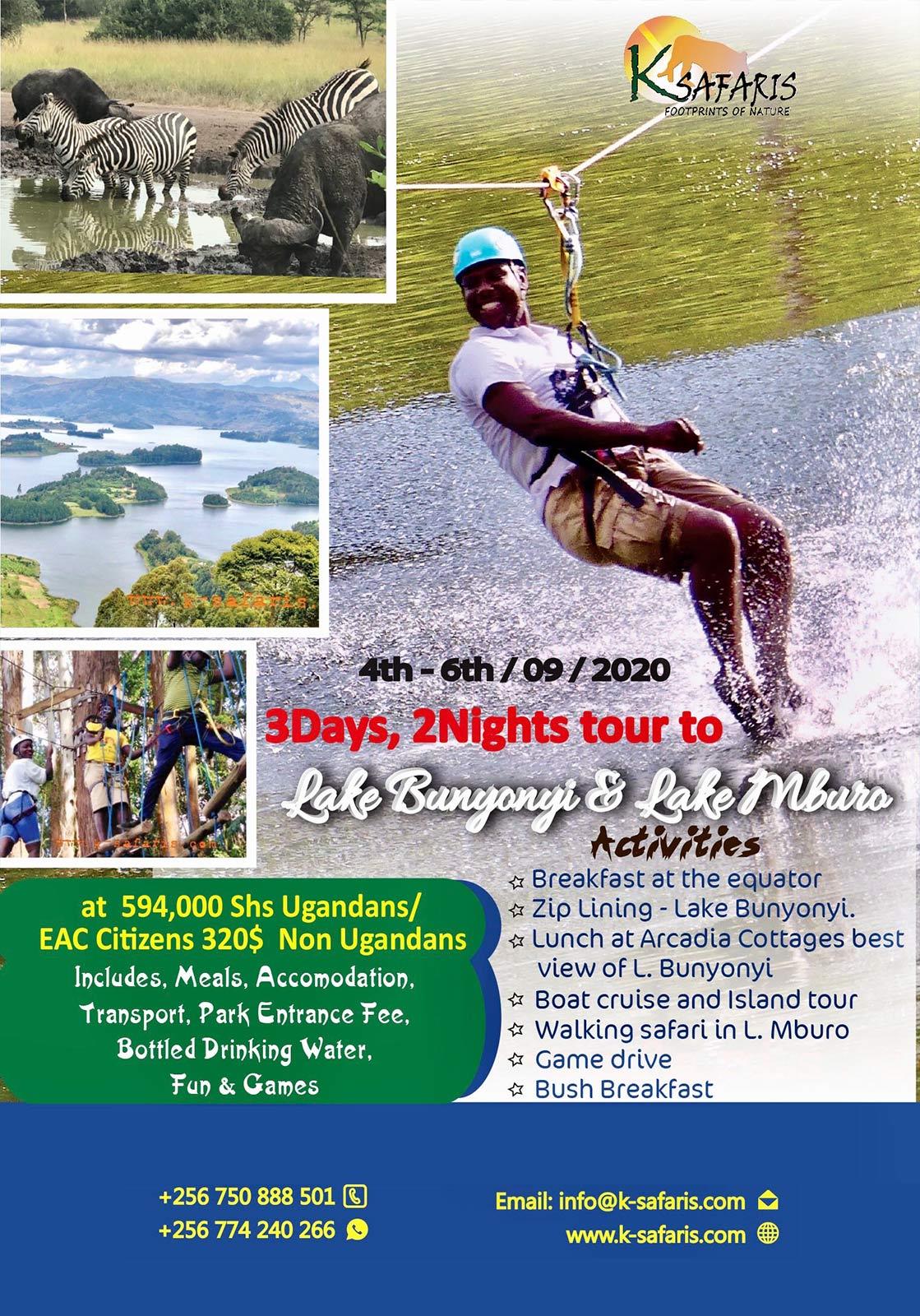 Lake bunyonyi adventure fun tour
